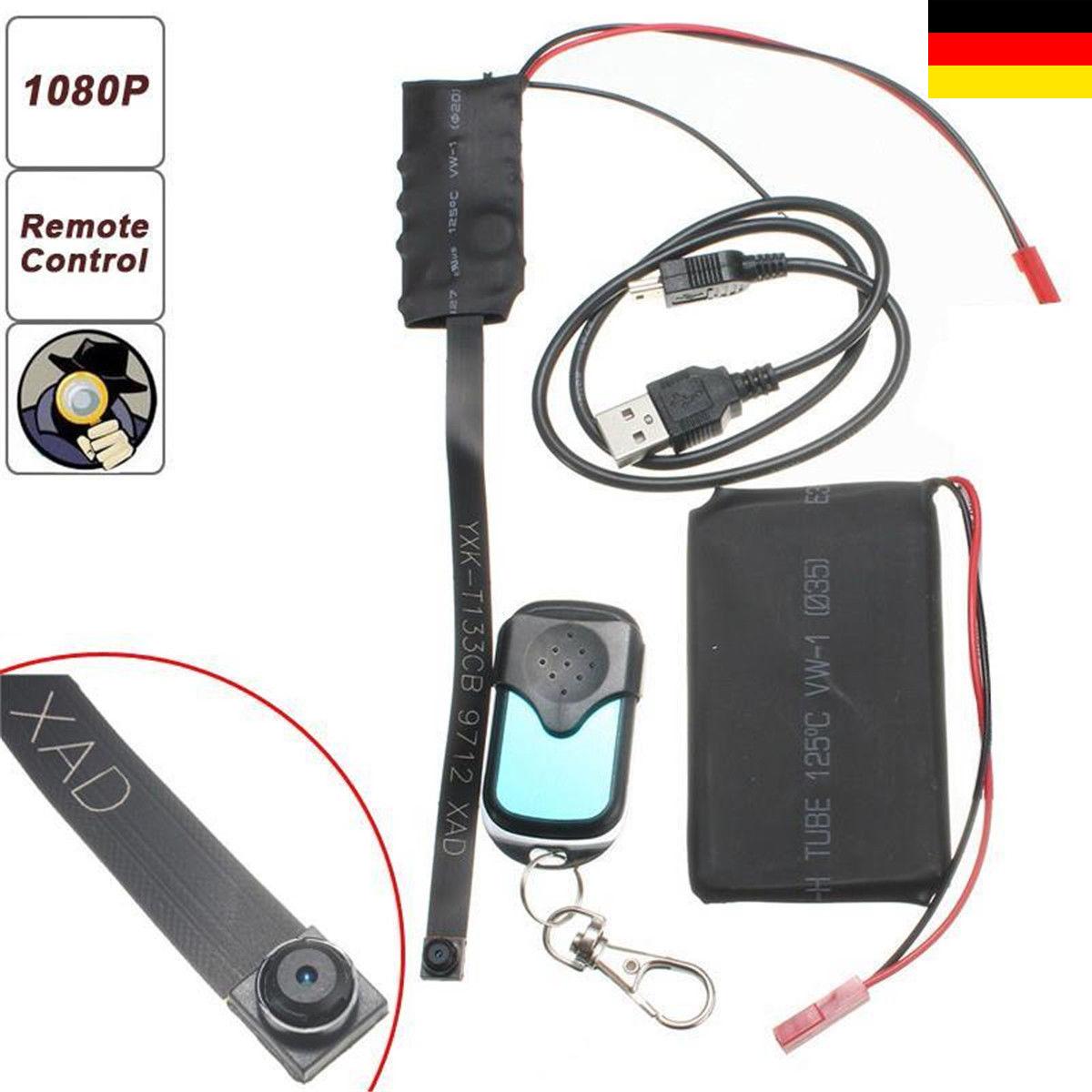 1080 HD Mini WIFI IP DVR Versteckt SPION Kamera Bewegungserkennung Videorecorder