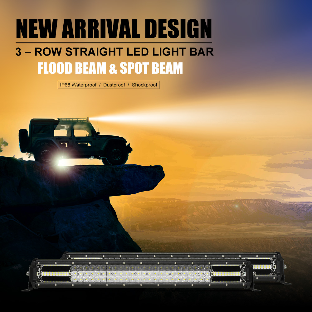 9d Tri Row 52inch 3132w Cree Led Work Light Bar Spot Flood Driving Movie Wiring Harness Notice The Package Is Not Including Harnessif You Needpls Click Herehttps Itm 273045665808