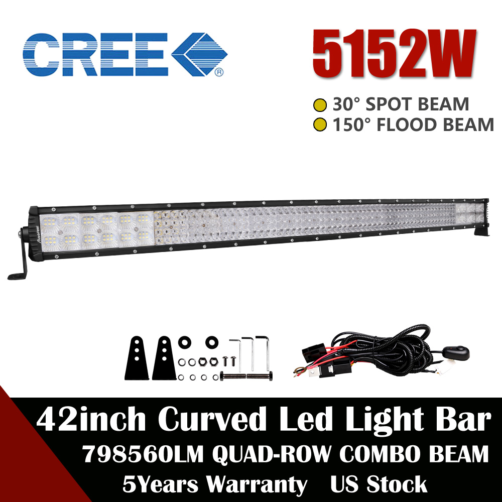 Quad Row Wiring Diagram Electronicswiring Osram 42inch 5152w Led Work Light Bar Curved Truck Driving Lamps