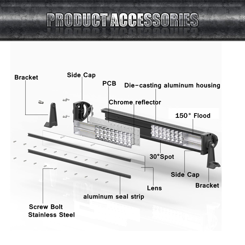 8d 12inch 504w quad row spot flood combo led work light bar boat productpicture0 productpicture1 productpicture2 productpicture3 productpicture4 productpicture5