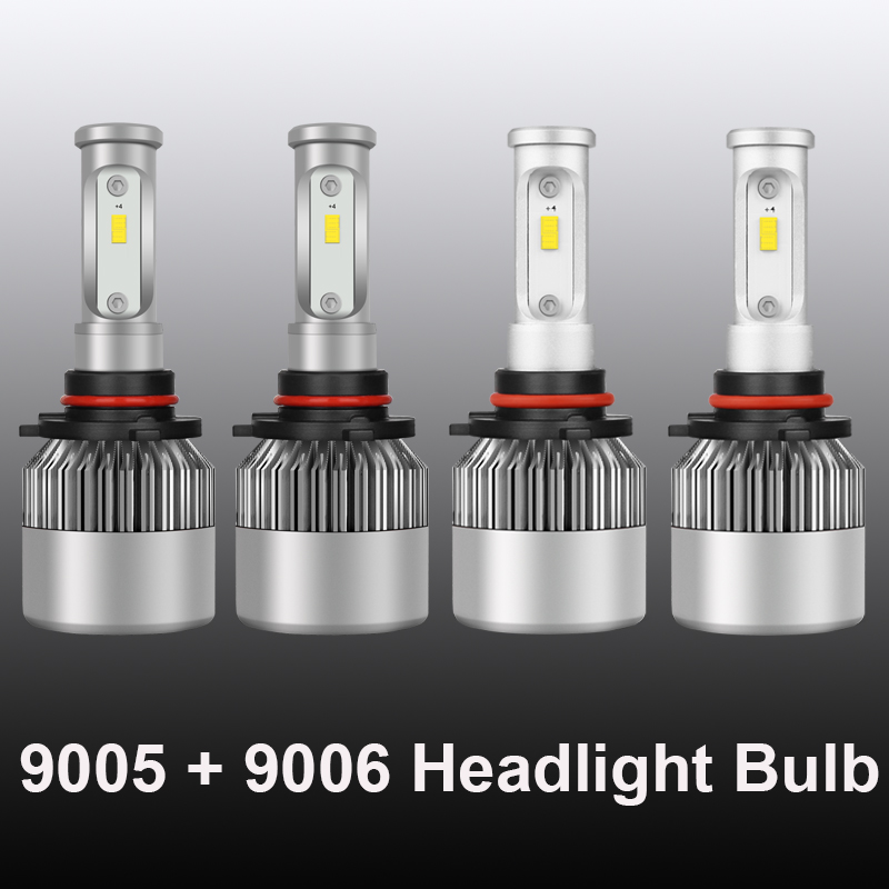 Details about 9005 + 9006 Combo 4200W 630000LM LED Headlight Bulbs Hi/Lo  Beams 6500K HID White