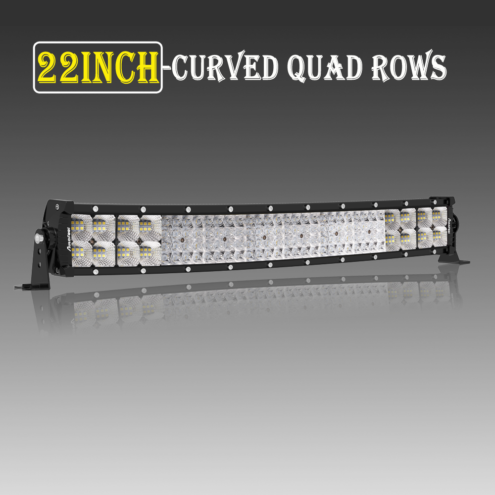 Quad-Row 12inch 1152W LED Light Bar Combo Offroad Car Driving Lamp 4WD Truck ATV