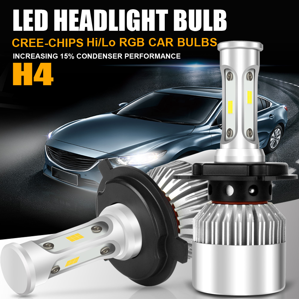CREE CSP H4 HB2 9003 105W 157500LM LED Headlight Kit Hi/Lo Power ...