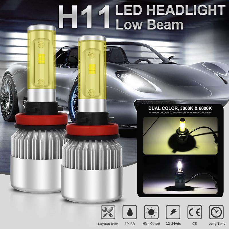 Led - 1050W H11 H9 H8 157500LM Lumiled LED Headlight Low Beam Bulb White High Power
