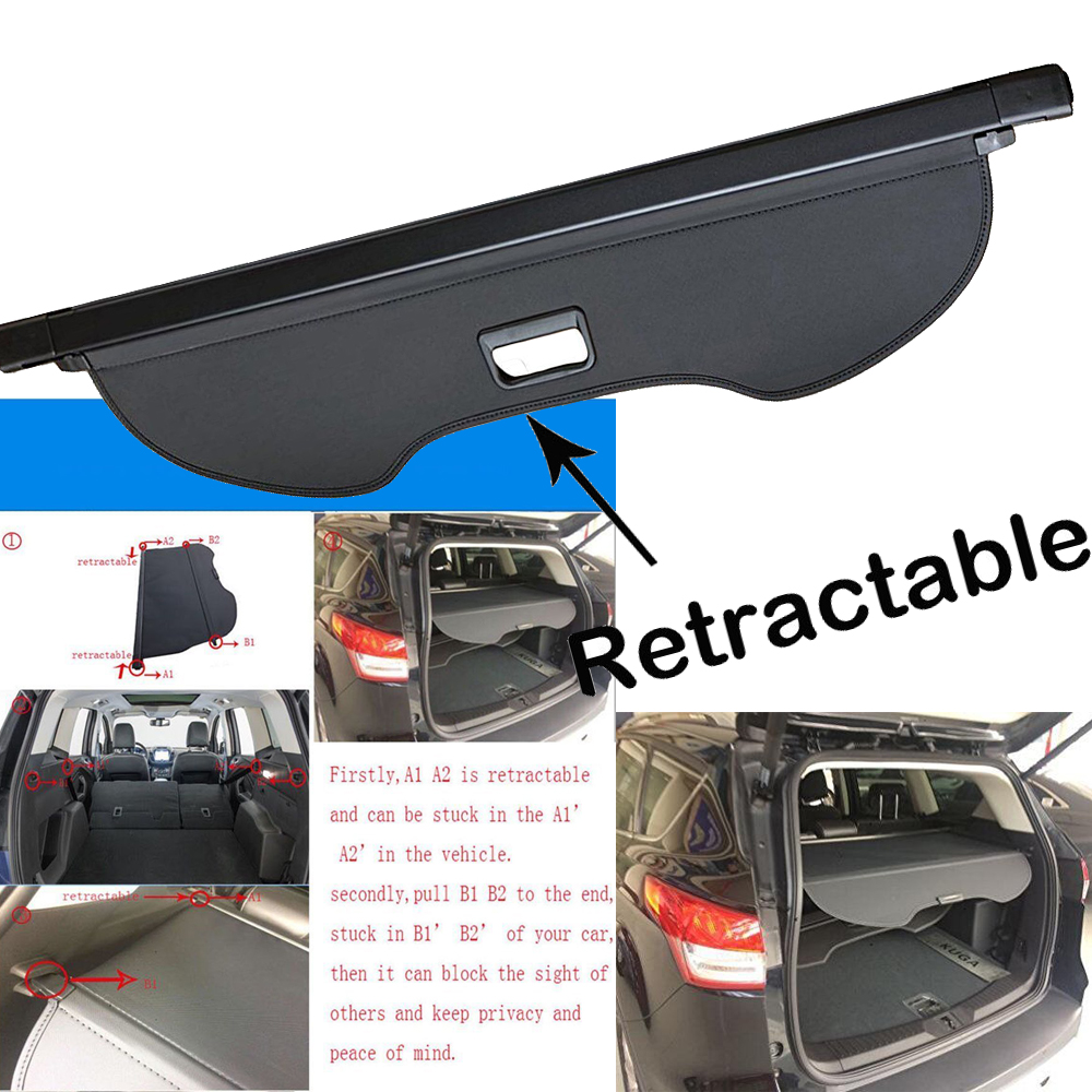 Retractable Cargo Cover for Ford Escape 2013-2018 Rear Trunk Luggage Shade Guard
