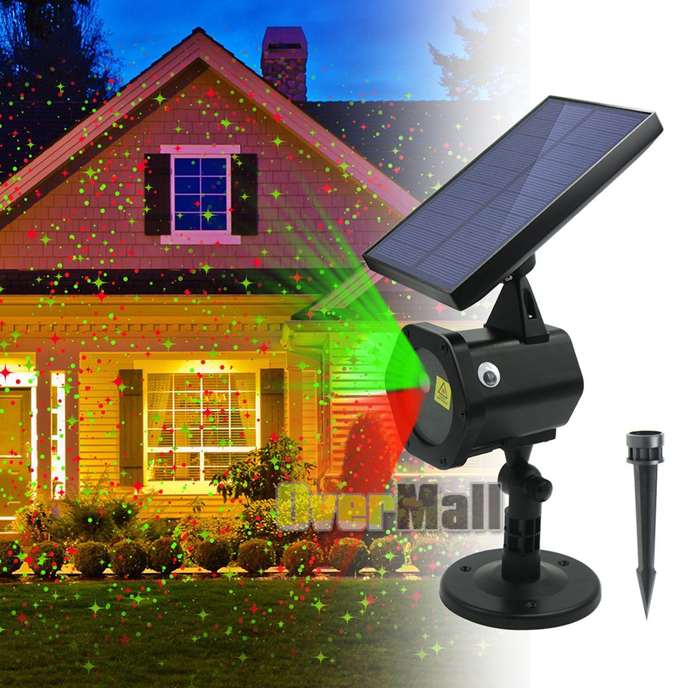 Outdoor Moving LED Laser Light Projector Garden Stage Lamp Halloween Xmas Party
