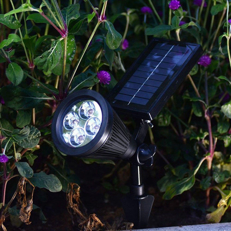 2x 250 lumen 4 leds garden lamp solar led spotlight outdoor lighting 2x 250 lumen 4 leds garden lamp solar led spotlight outdoor lighting wall lights workwithnaturefo