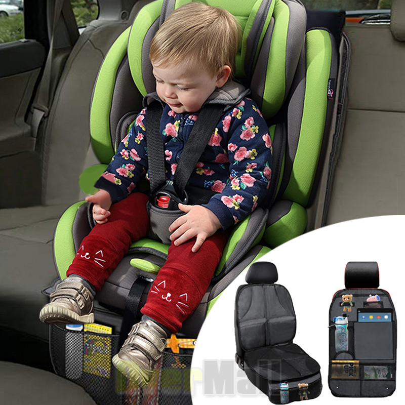 Car Seat Back Protector Cover For Children Kids Kick Mat Storage Bag Organizer