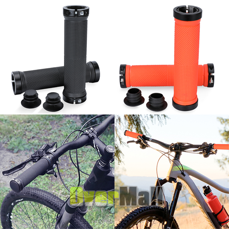 Bike Grips Rubber Road Mountain Bicycle MTB Handlebar Ergonomic Cycling Lock On