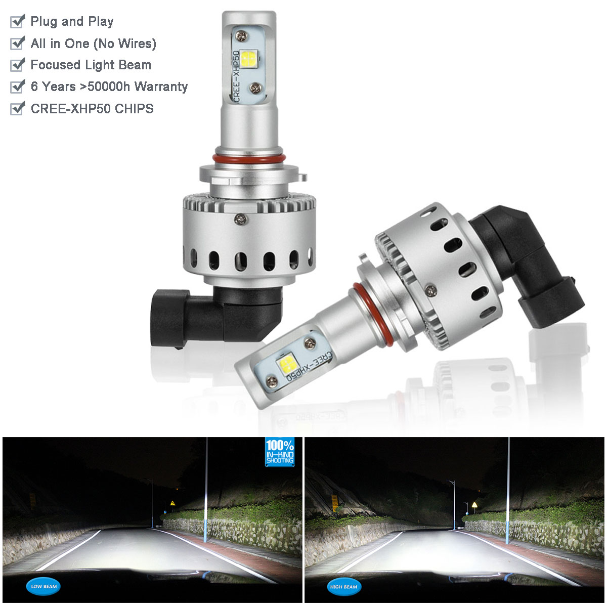 Led Headlight Kit Hid Xenon White 9005 Hb3 Bulb 6000k For Subaru Ebay Plug And Play Quick Fit To High Beam Wiring Harness