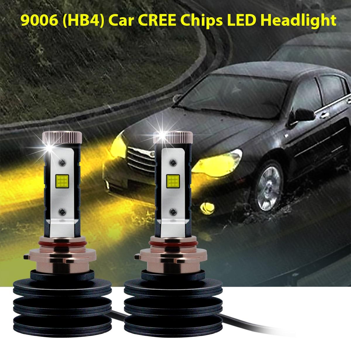 H11 LED Headlight 3000K Yellow 2110W Conversion Low Beam High Power Pair