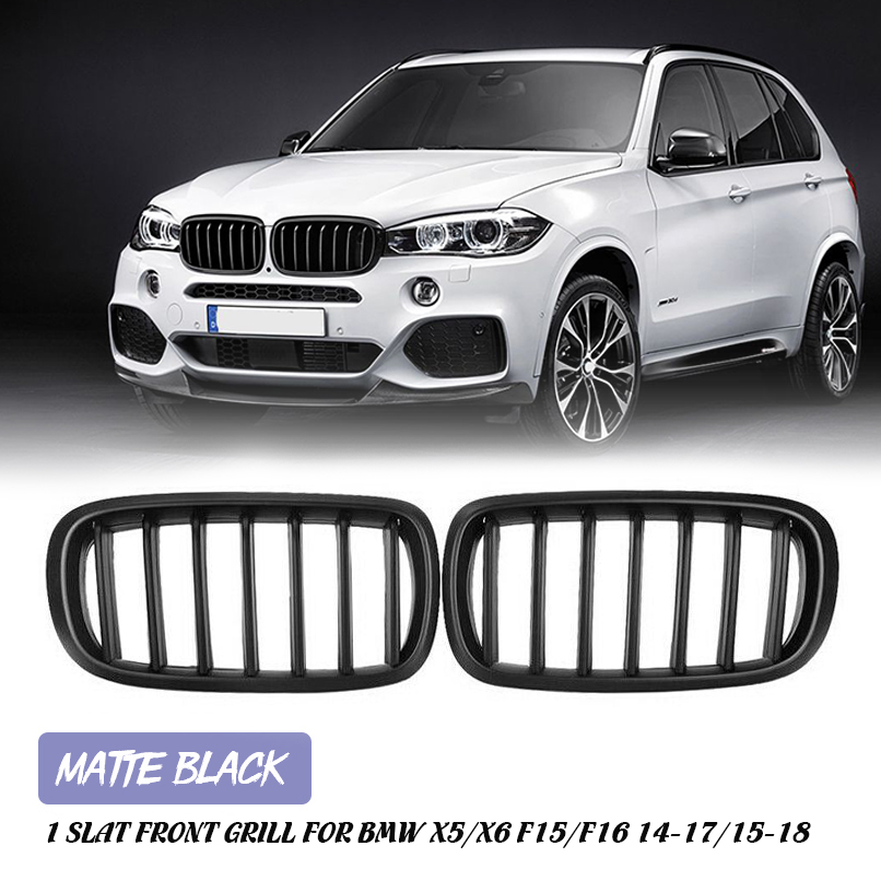 Matte Black Front Replacement Kidney Grille Grill Compatible with BMW X5 Series F15 X6 Series F16 X5M F85 X6M F86