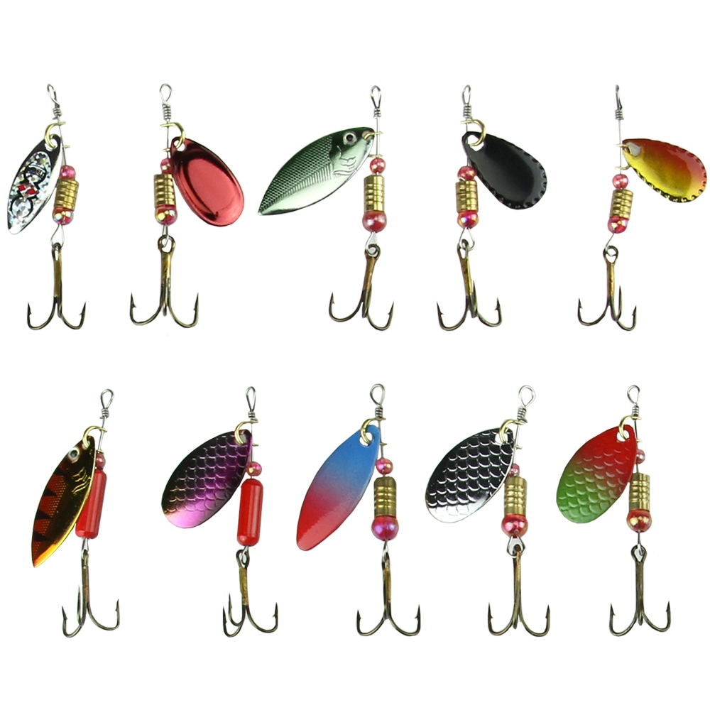 Lot 30pcs Trout Spoon Metal Fishing Lures Spinner Baits Bass Tackle Lure Bait 10 Pcs Plus Box Colorful Usa