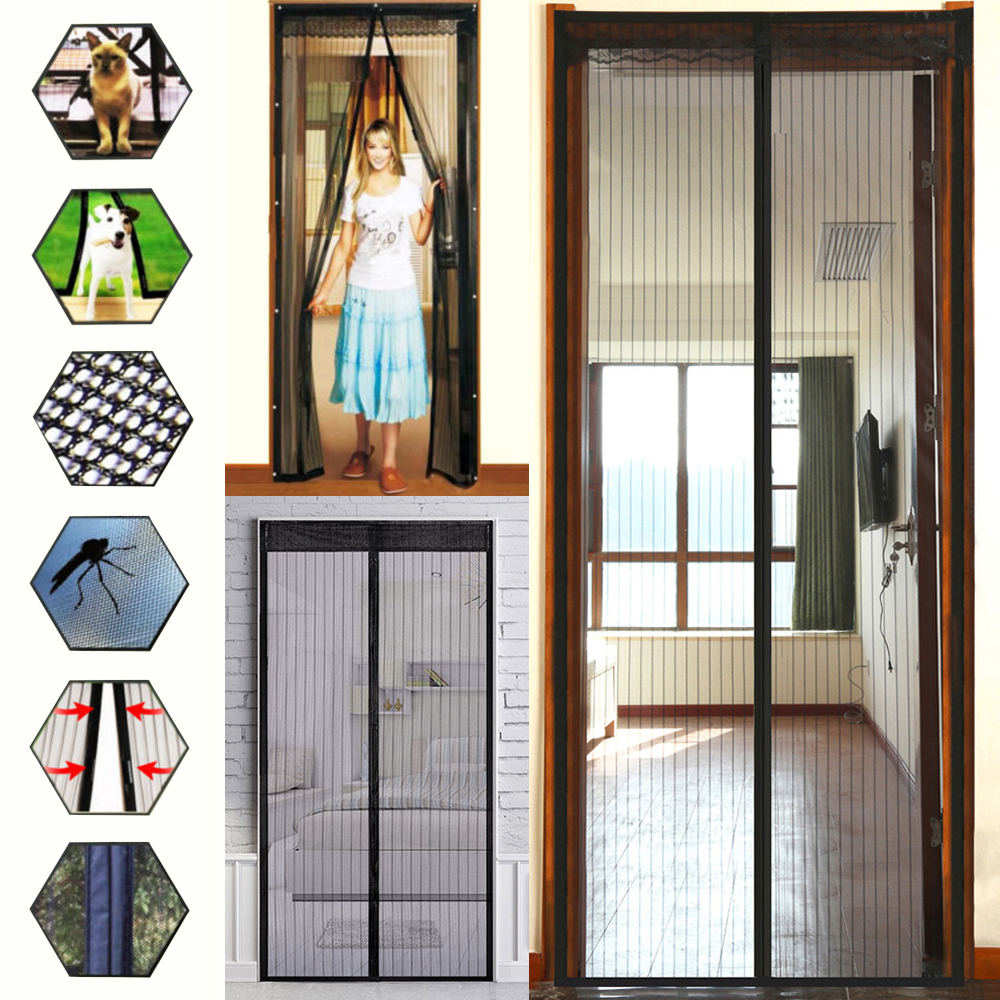 Magnetic Screen Door Net Anti Mosquito Magic Mesh Hands