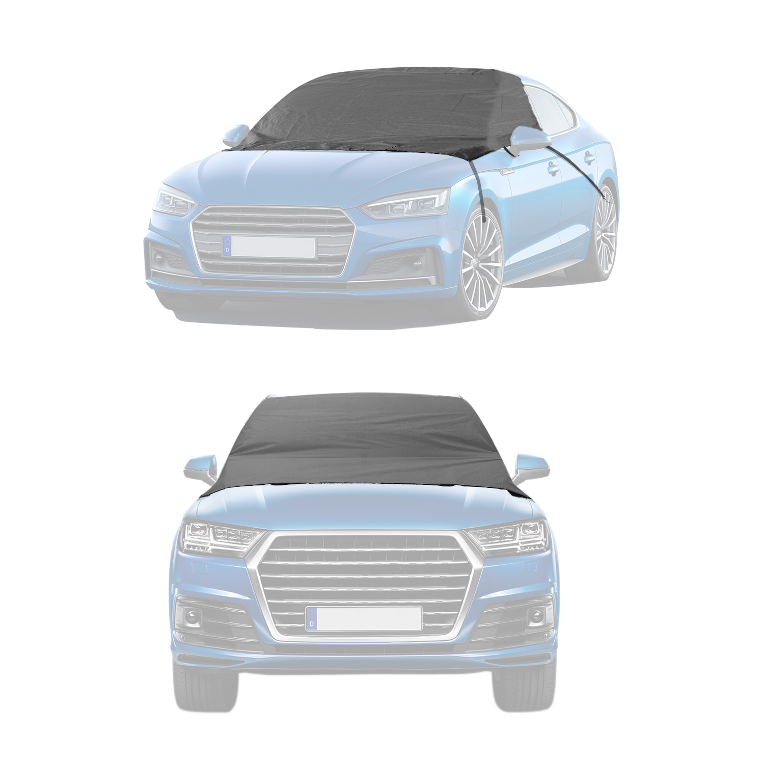 Windscreen Sun Protector Cover Magnetic Dust Cover Snow Ice Frost Sun UV Dust Water Resistent Fit for Cars SUVs All Years Summer//Winter NWKNWK Car Windshield Snow Frost Cover