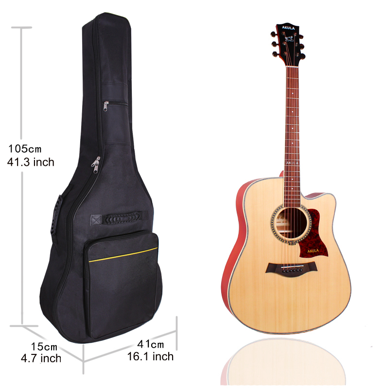 Details About 41 Inch Acoustic Guitar Gig Bag Backpack Double Straps Padded Large Soft Case