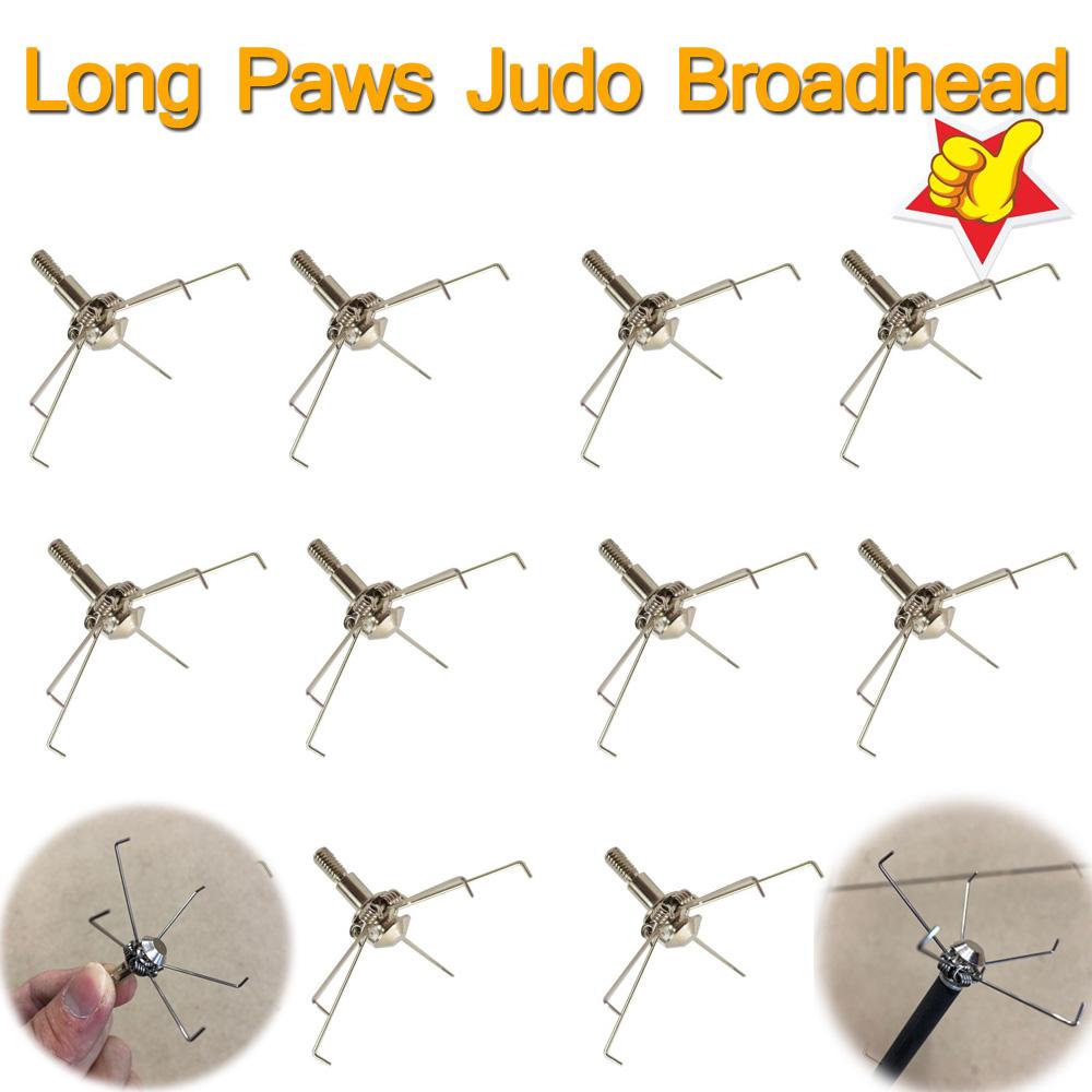 100 Grain Broadheads Hunting Small Animal Game Judo Arrow Point Head Archery UE