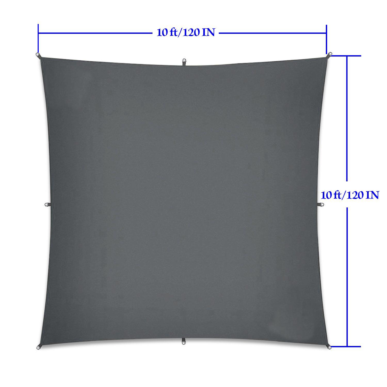 210T 3*3M Waterproof Tent Tarp Rain Sun Shade Hammock Shelter Camping Picnic Mat