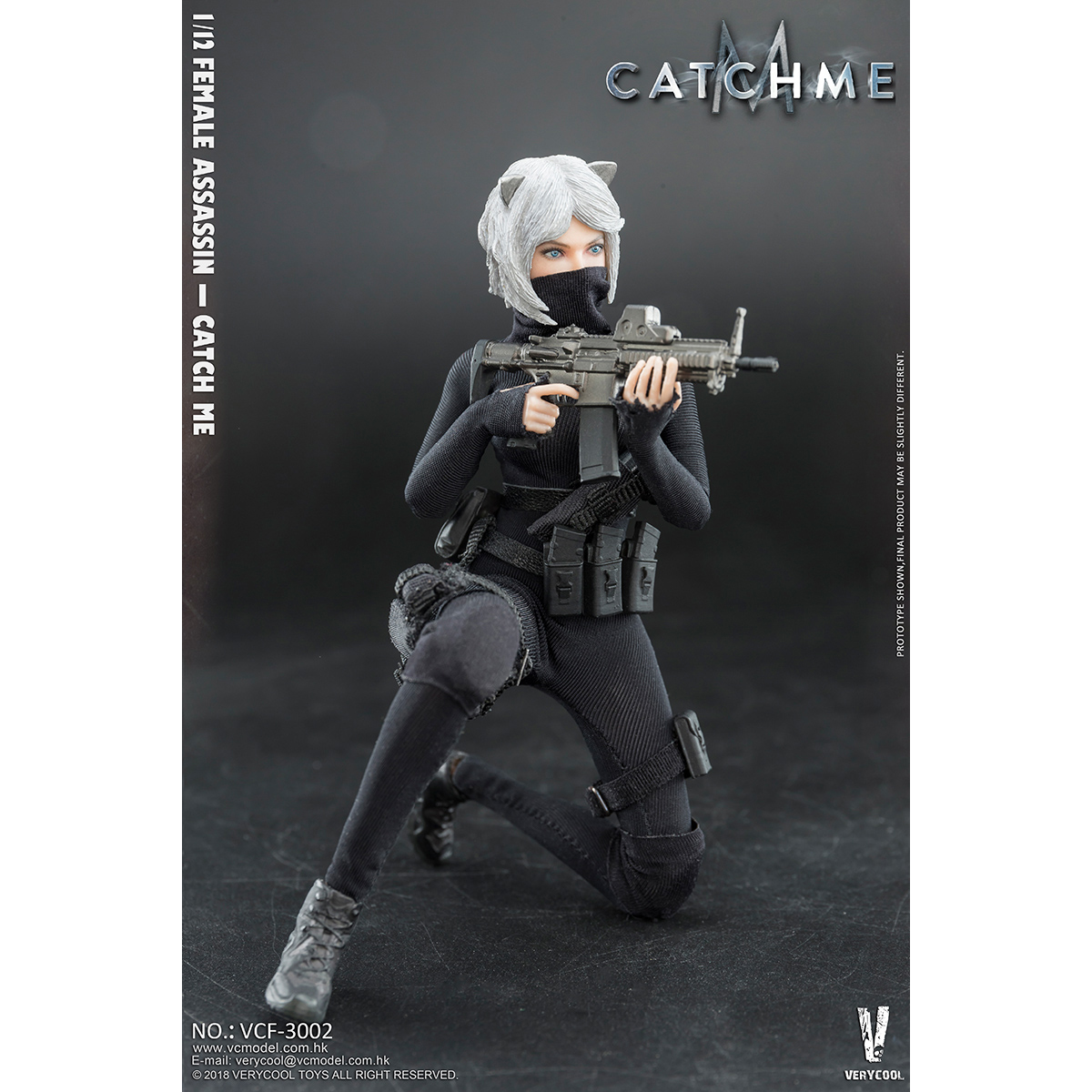 VERYCOOL VCF-3001 1//12 Palm Female Assassin Catwoman Catch Me Figure New
