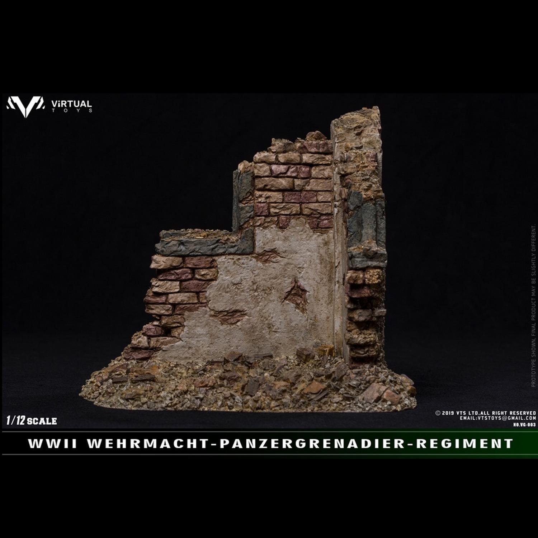 VTS TOYS 1//12 WWII WEHRMACHT Panzergrgrenadier Simulated War Ruin Scene Platform
