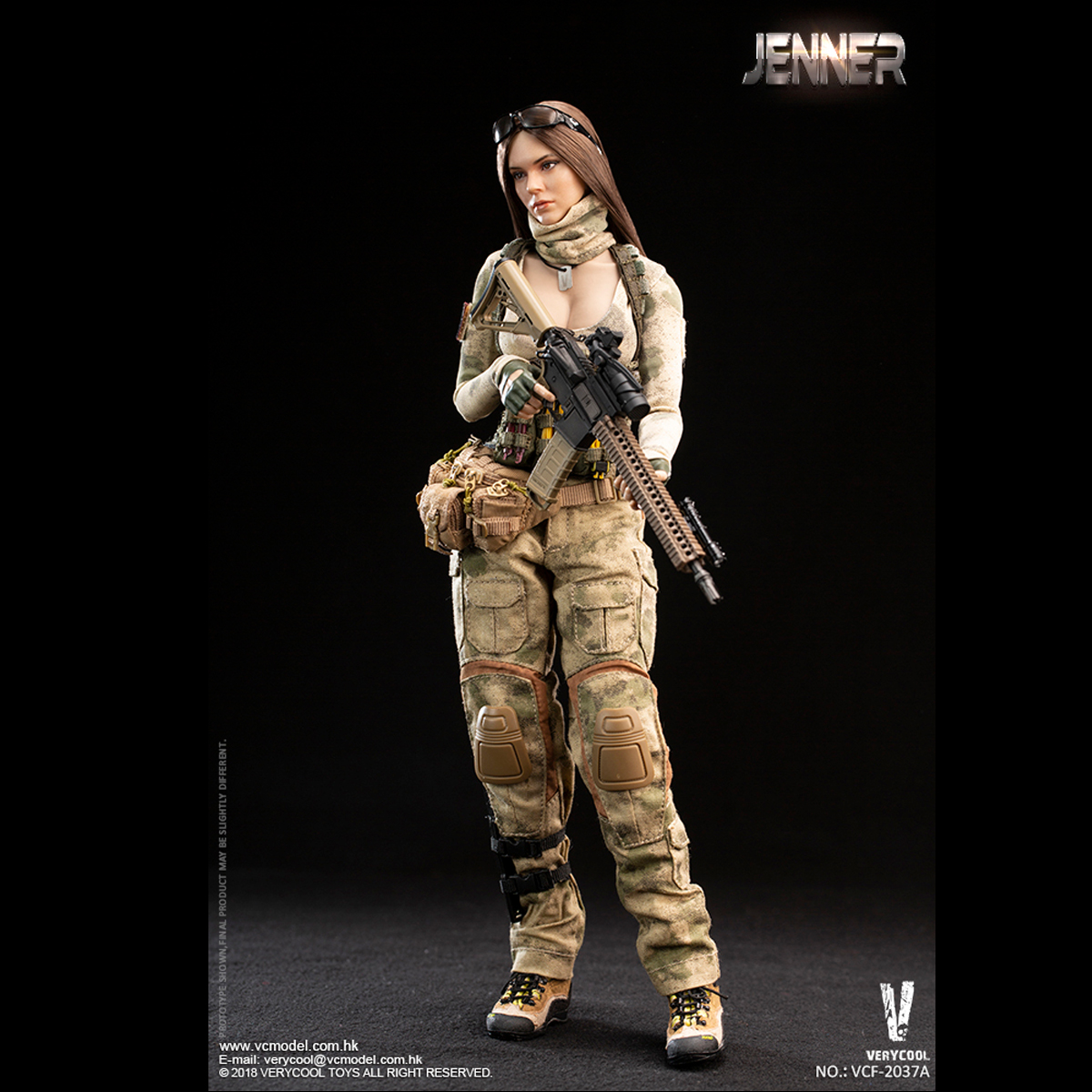 Tactical Vest for VERYCOOL VCF-2037B A-TACS FG Women Soldier JENNER 1//6 12/'/' New