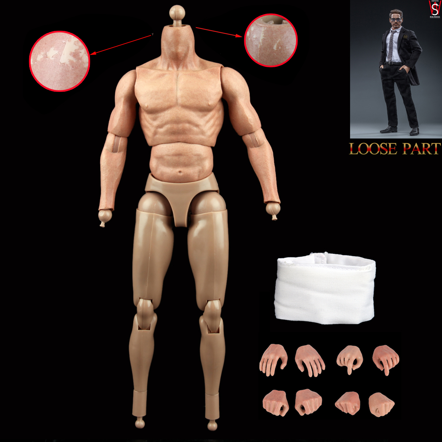 """SWtoys FS021 1//6 Scale Iron Man Tony Stark Action Body /& Hands for 12/"""" Figure"""
