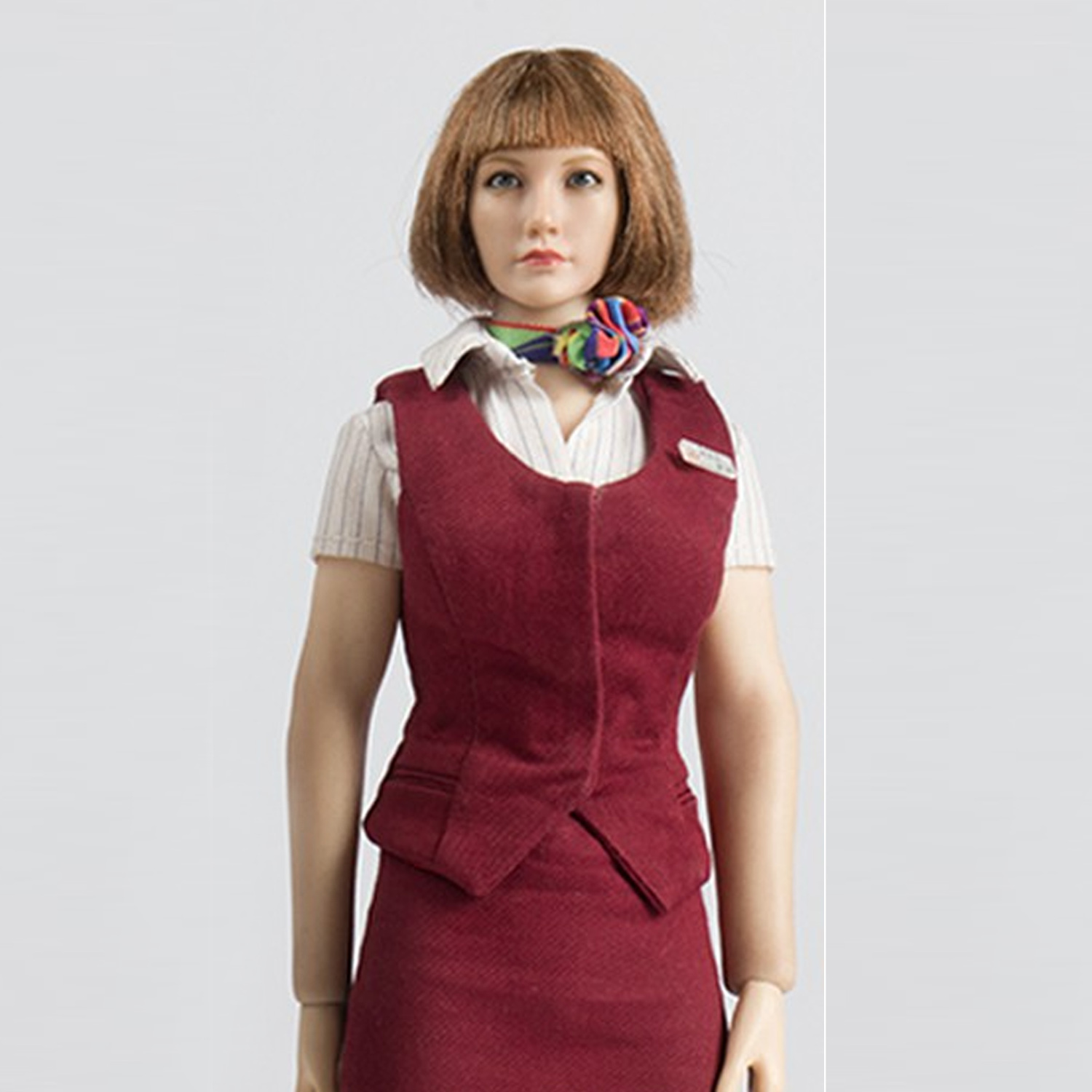 Details about  /Wolford Toys WF-S005B 1//6 China Air Hostess Clothing Set Model Toys Blue Color