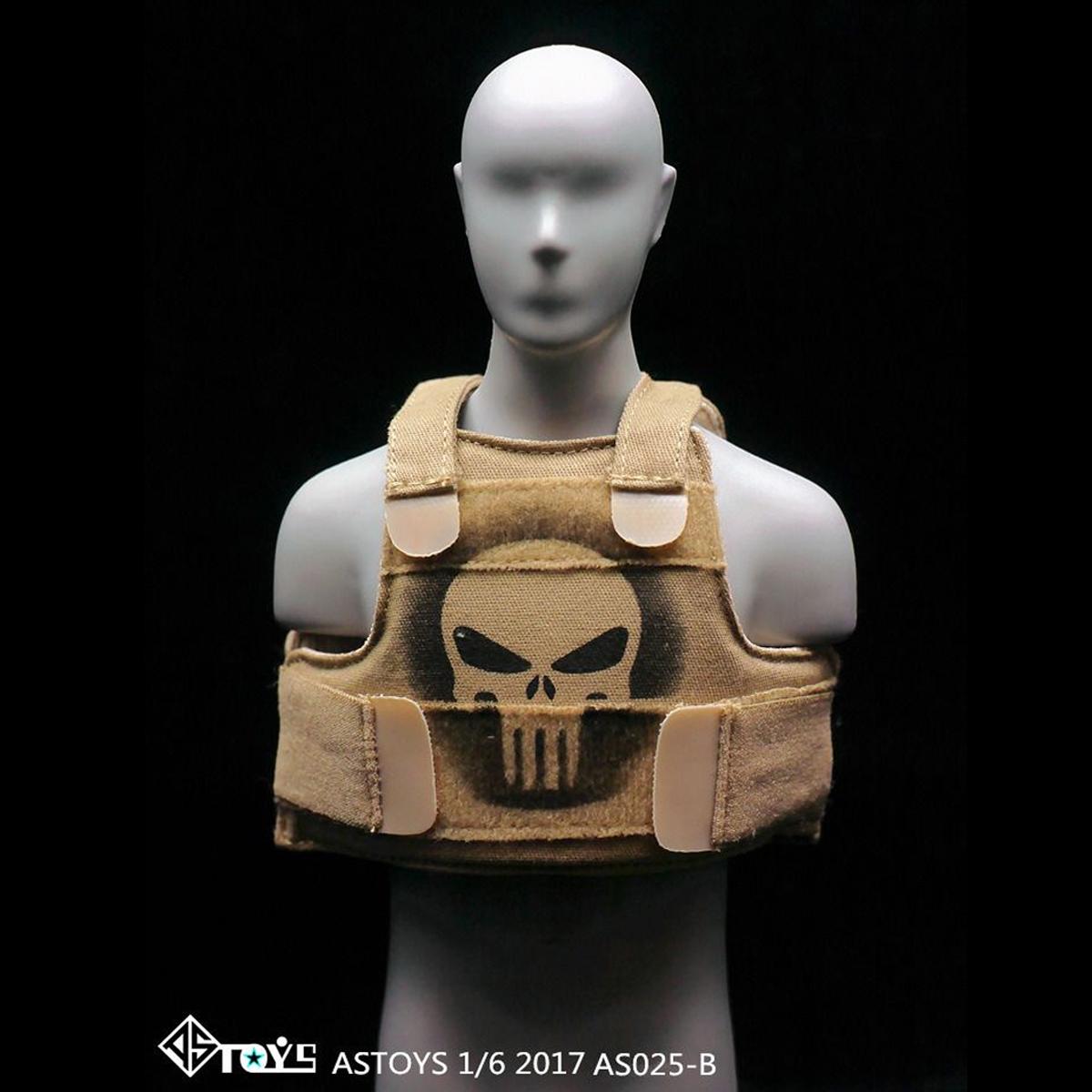 "ASTOYS 1//6 Scale AS025  Punisher Skull Vest F12/"" FIGURE model sand colour"