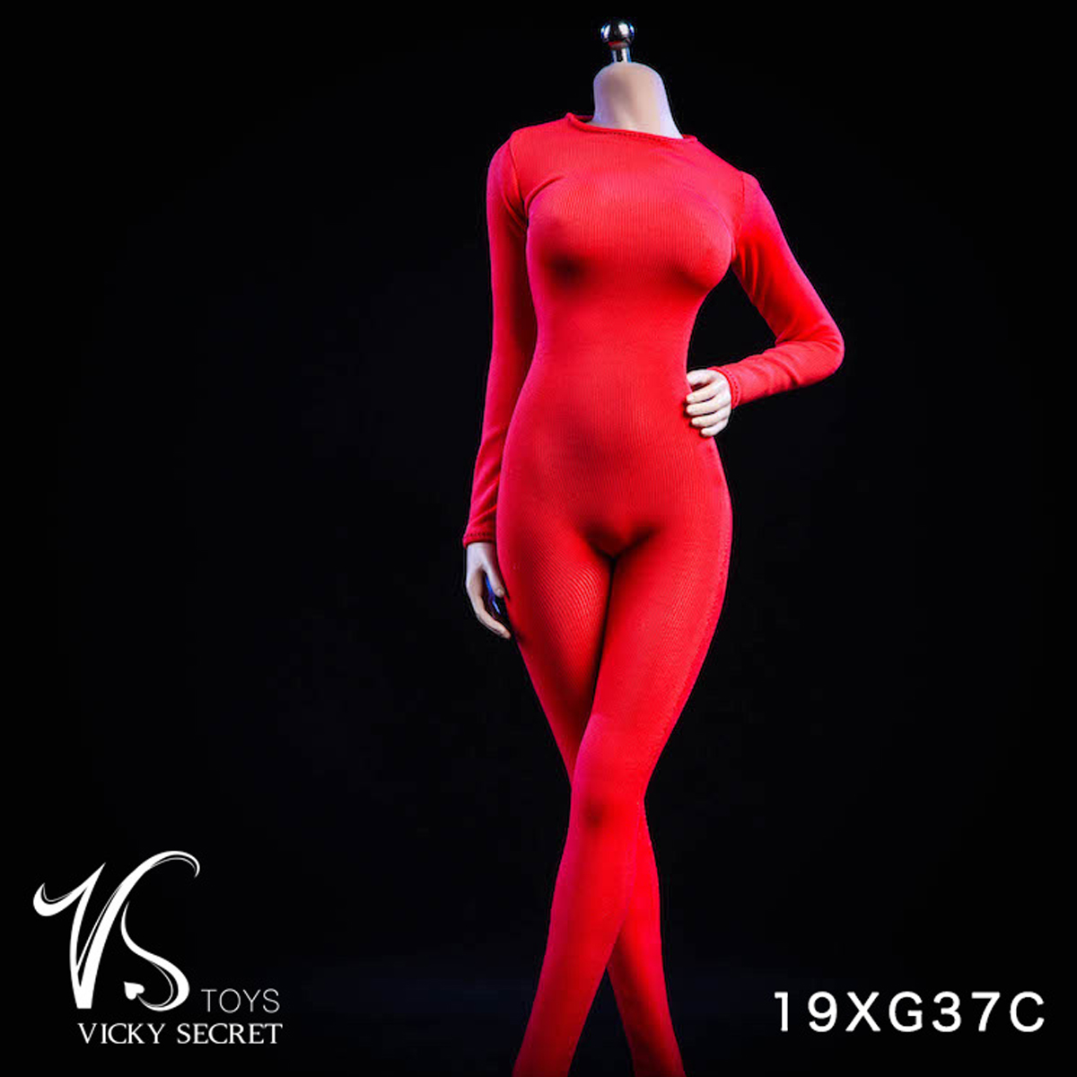 """VSTOYS 19XG37C 1//6 Red Long Sleeved Bodysuit Clothes Fit 12/"""" Female Figure Toys"""
