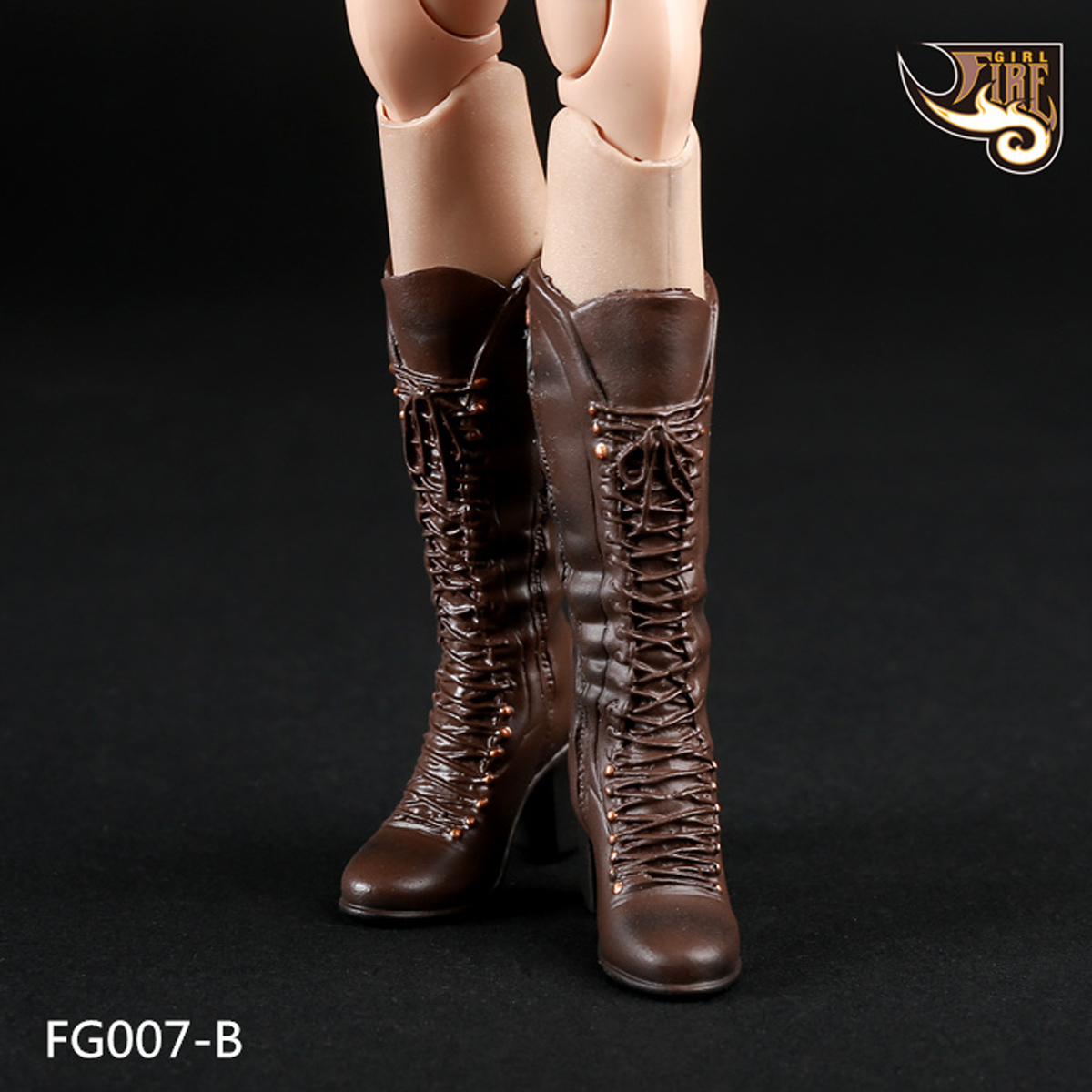 1//6 Scale Fire Girl Toys FG022 Combat Boots For Hot Toys 12in Action Figure