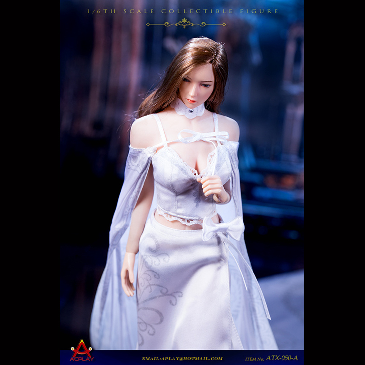 ACPLAY ATX050C 1//6 Queen Style Long Retro Female Dress Skirt Clothing Set