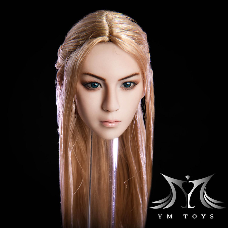 1//6 Fairy Elf Female Head Brown Detachable Ears SUNTAN for PHICEN hot toys ❶USA❶