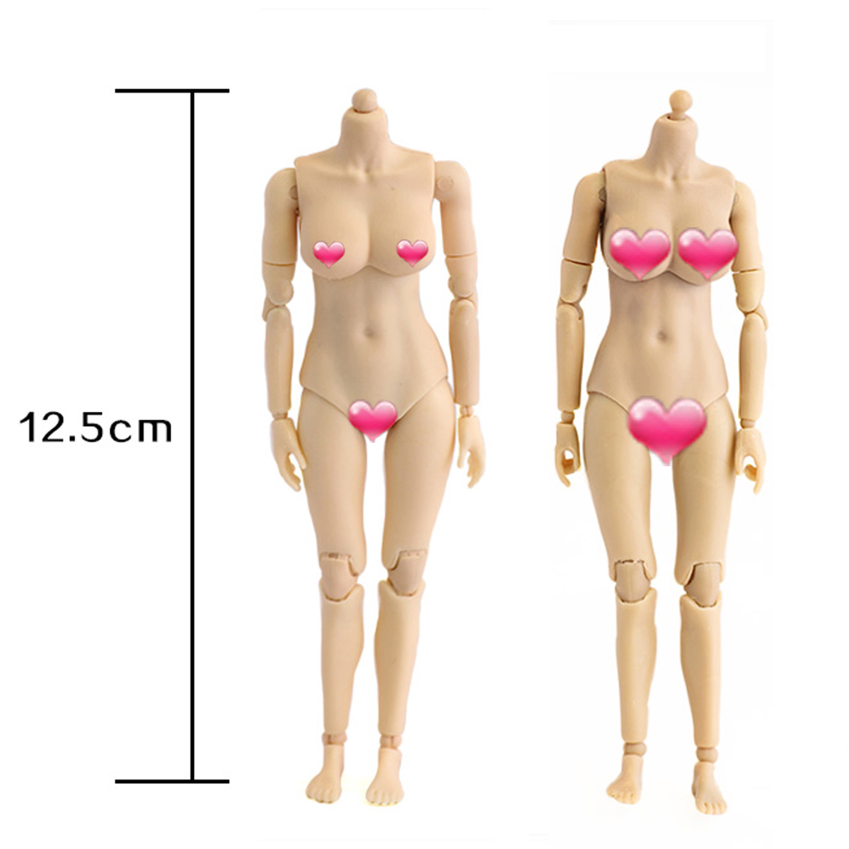 Heng Toys 1//12 HY001A Half-encapsuiated Feminine Body Whitening Complexion
