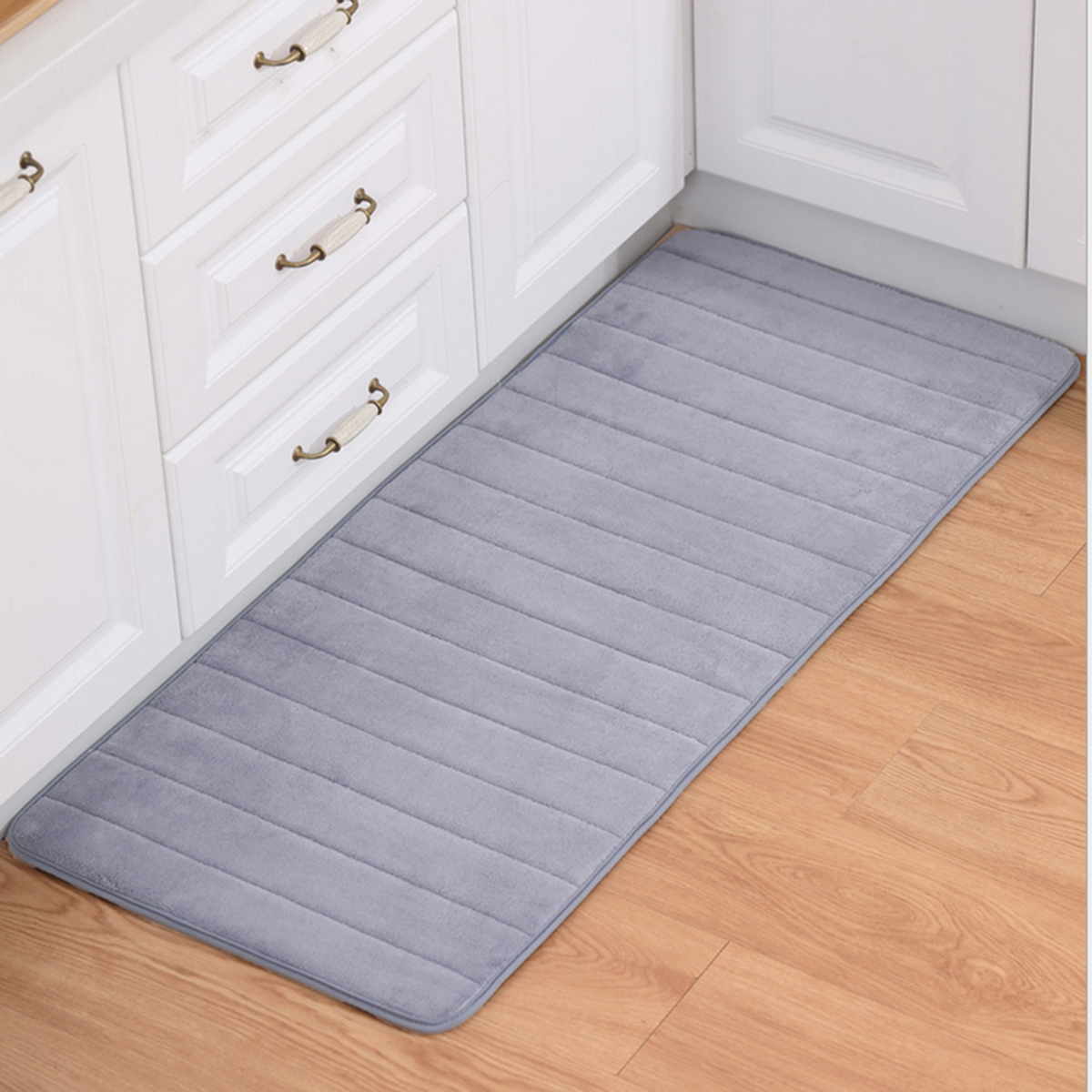 Details about Absorbent Memory Foam Bath Mat Kitchen Carpet Non-Slip Rug  Soft Bathroom Carpet