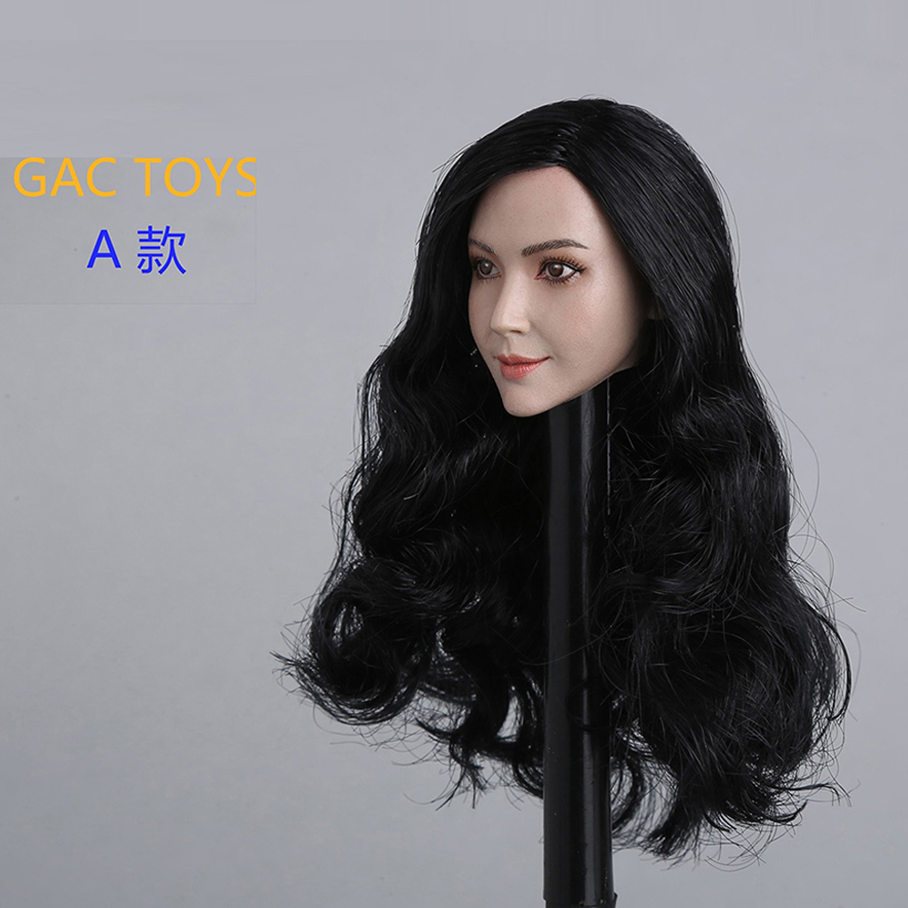 "GACTOYS GC011-B 1//6 Short Hair Female Head Carving Fit 12/"" Action Figures"