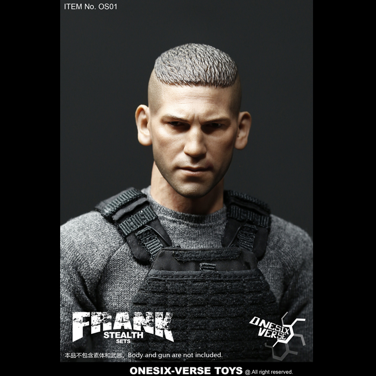 """ONESIX-VERSE TOYS 1//6th OS01 FRANK STEALTH SETS Coat Mode F 12/"""" HT Action Figure"""