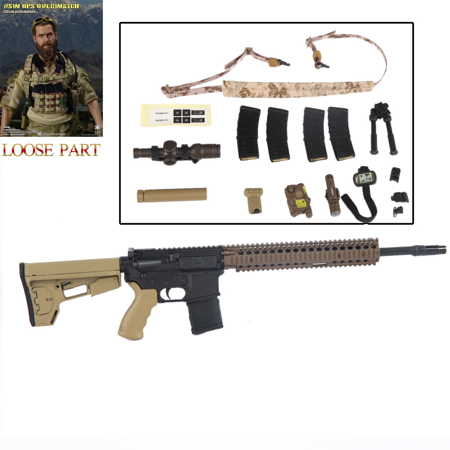 Helmet Set for EASY/&SIMPLE ES 26036R NSW Sharpshooter 1//6 Scale Action Figure