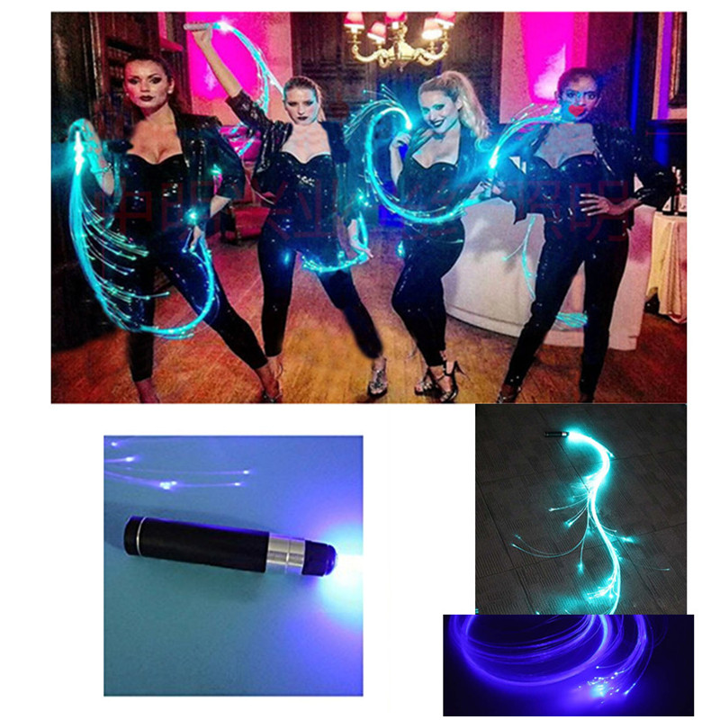 LED Fiber Light Up Whip Night Space Christmas Halloween Dance Party Props UK