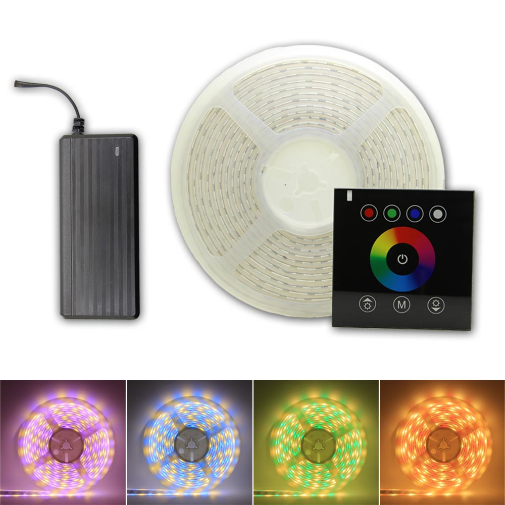 1~20M//Roll RGBW 5050 LED Strip Light Flexible Wall Mounted Controller w// 12V PSU