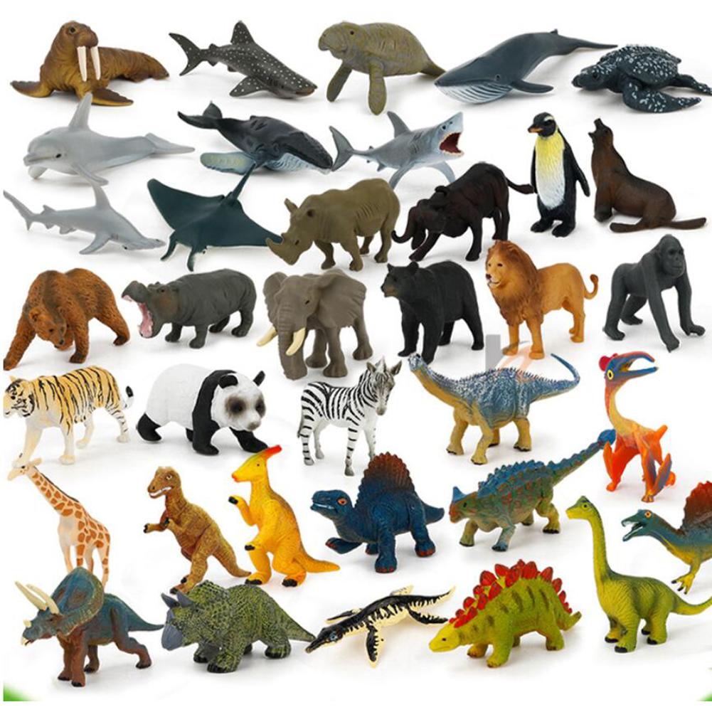 24Pcs Plastic Dinosaur Action Figures Reptiles Animal Model Preschool Toys