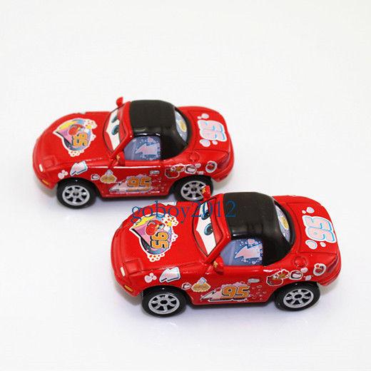 Disney Pixar Cars No 95 Lightning Mcqueen Fans Tia Mia Diecast