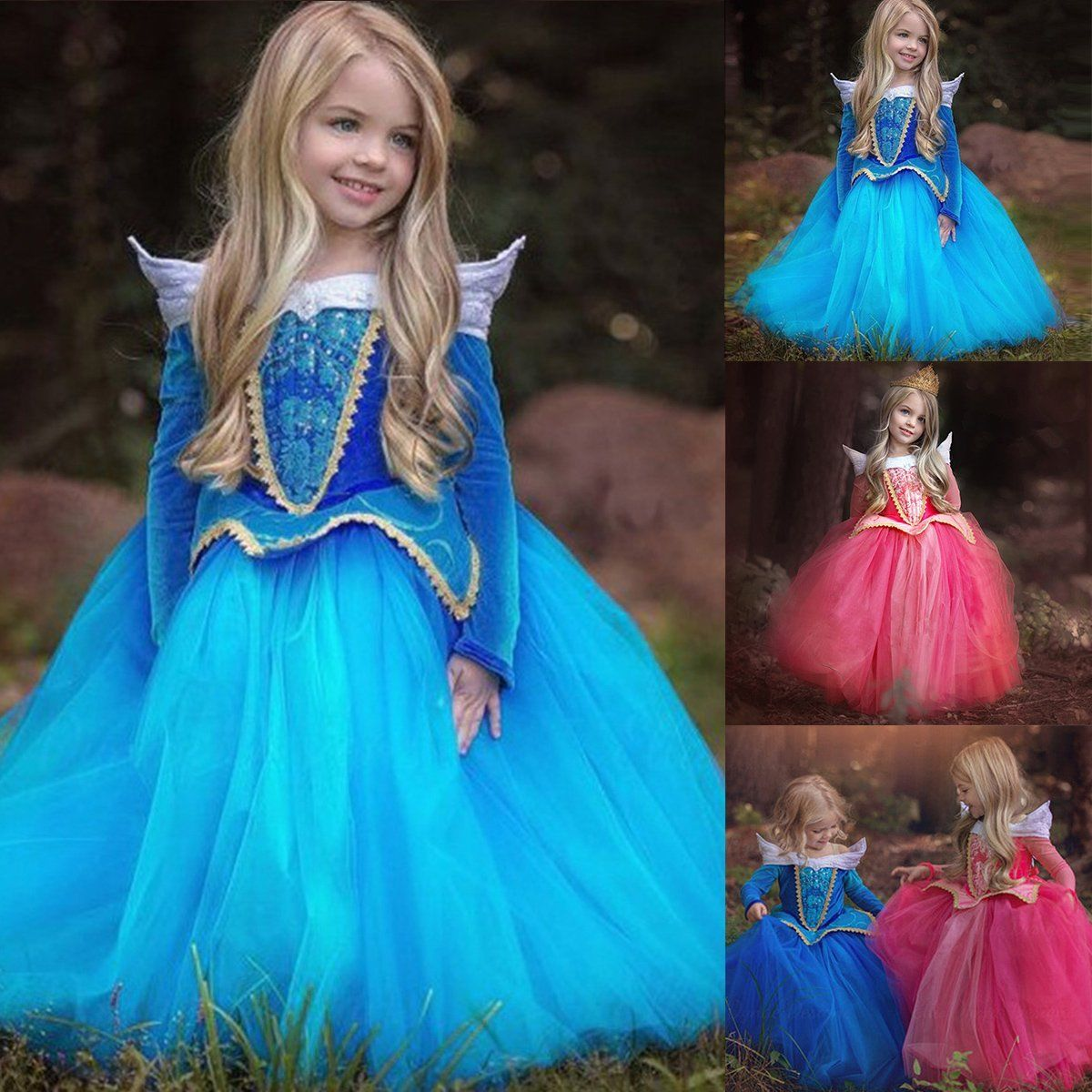 Aurora Princess Dress Sleeping Beauty Fancy Party Cosplay Costumes ...