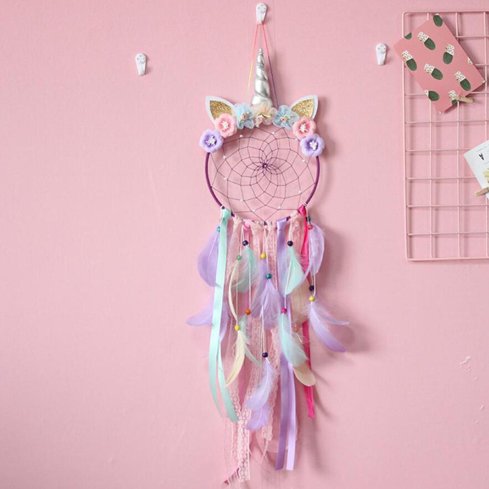 Dream Catcher Dreamcatcher LED Light Up Feather Wall Background Bedroom Decor UK