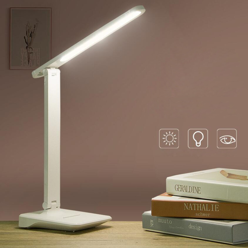 LED Reading Light Foldable USB Lamp Touch Rechargeable Dimmable Table Light