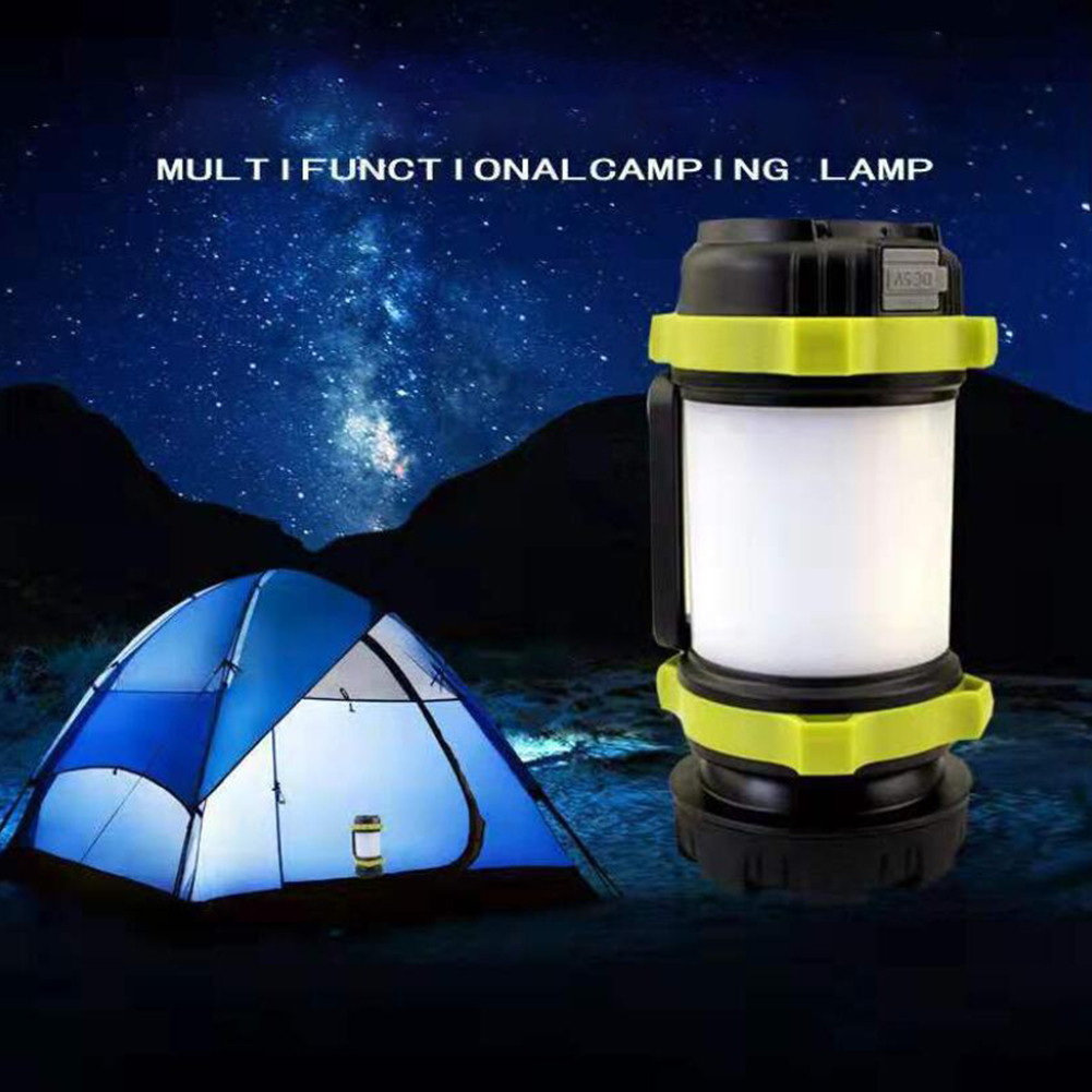 USB Rechargeable LED Camping Lantern Outdoor Tent Light Power Bank Phone Charger