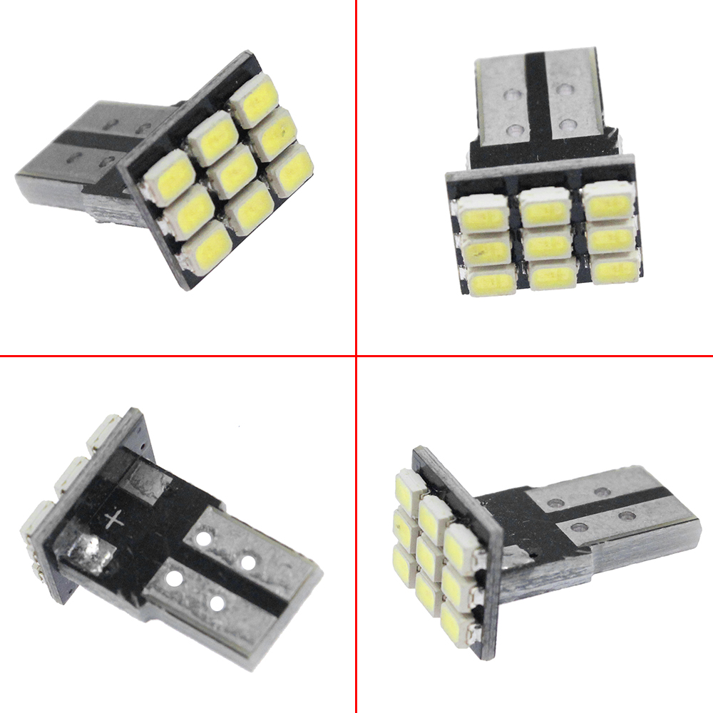 50x T10 Wedge W5w 168 194 161 9 Smd 3528 Led Car Light