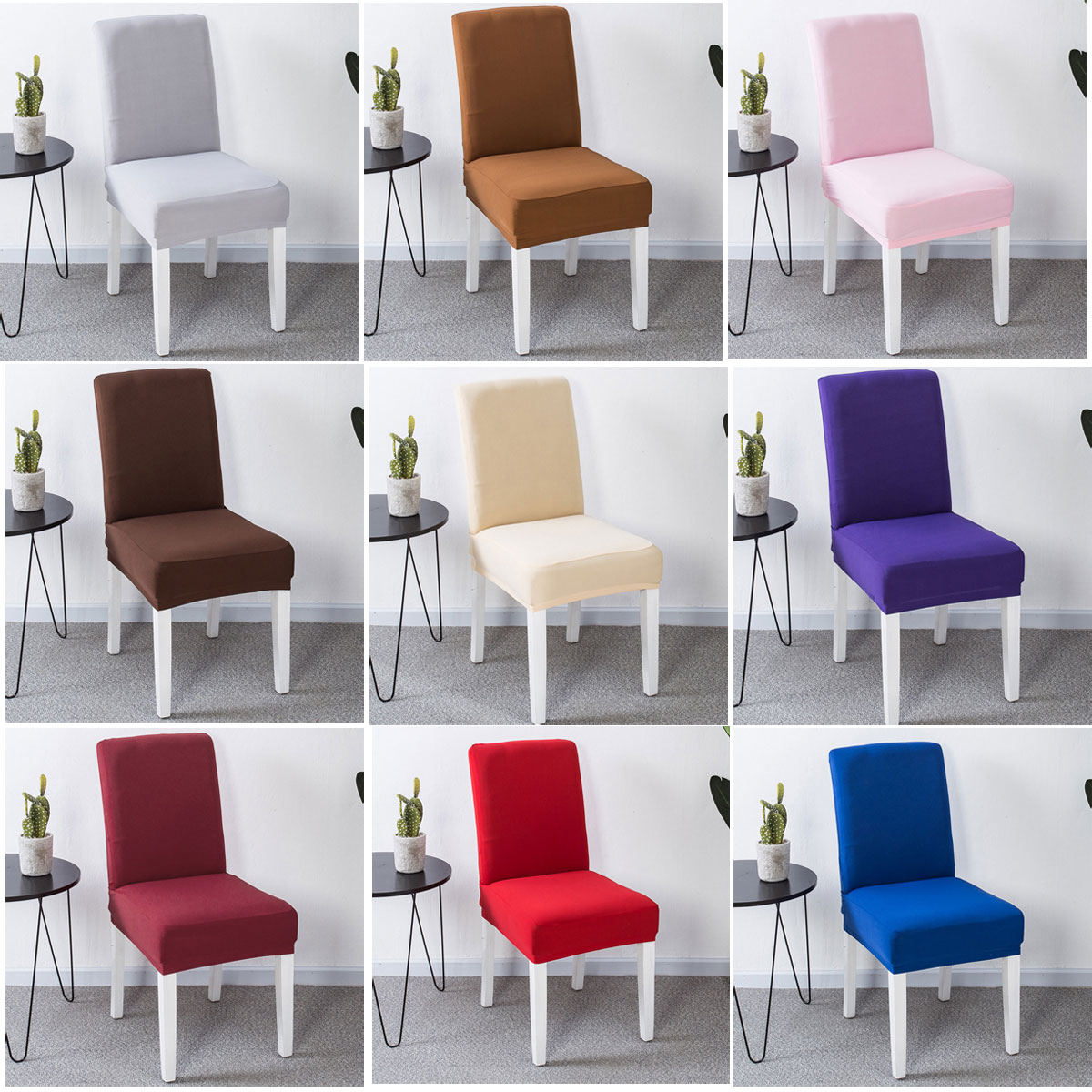 Details about stretch chair cover banquet kitchen protective dustproof covers seat slipcovers