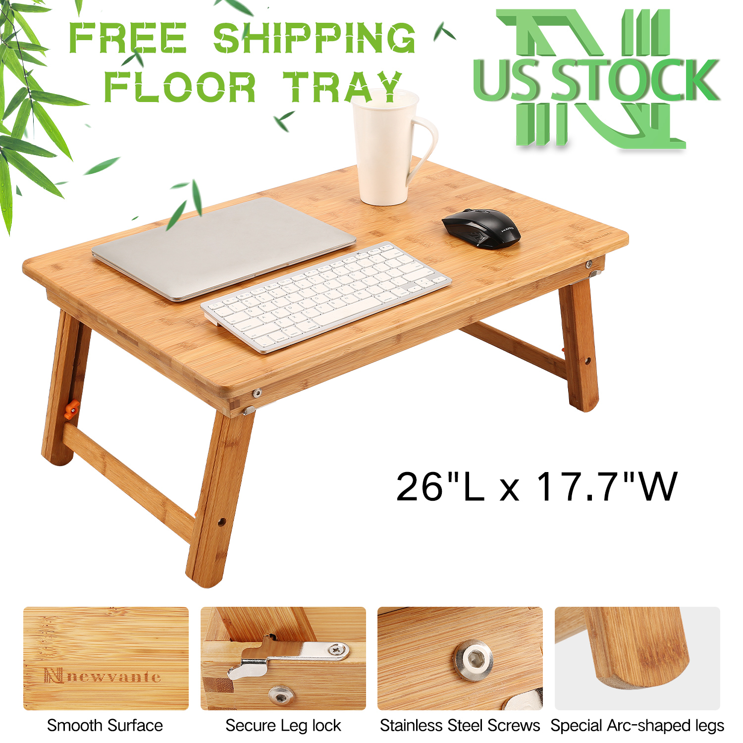 Peachy Details About Laptop Tray Large Size Nnewvante Foldable Lap Table Desk Bamboo Adjustable Uwap Interior Chair Design Uwaporg