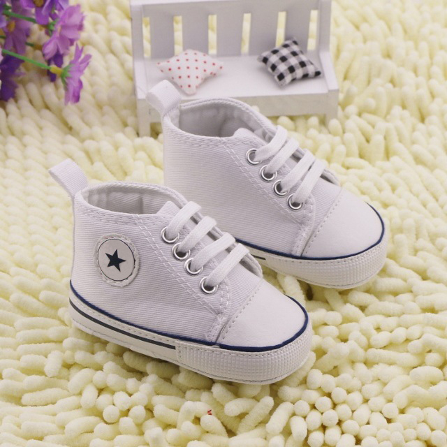 BABY BOYS GIRLS CANVAS SHOES INFANT SOFT SOLE SNEAKERS 0-12M