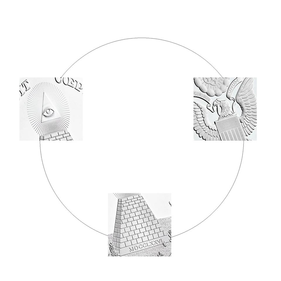 Silver Souvenir Coin Annuit Coeptis Egyptian Pyramid God USA Eye Plated Coin